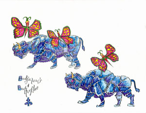 Image of buffalows and butterflies.jpg
